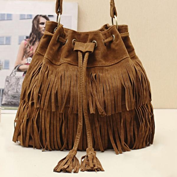 Unique Faux Suede Fringe Bag · We Are Forever Girl · Fashion Online Shop MJ01