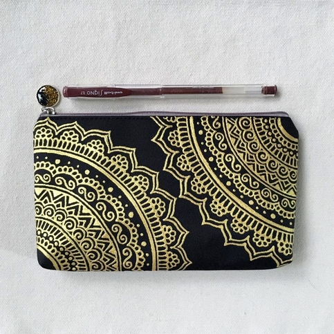 Hand Painted Henna Bag Mandala Bag Pattern Zipper Pouch