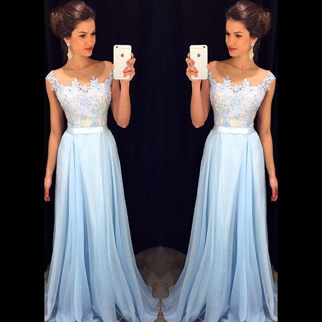 Lace Applique Long Prom Dresses 5efeb9a16