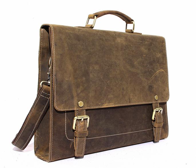 8b5e54272875 Mens Leather Laptop Bag 13 Inches Macbook Bag Leather Briefcase Messenger  Bag Man Satchel Travel Bag