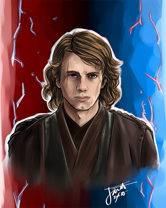 Star Wars Revenge Of The Sith Anakin Skywalker Print 11 X 14 Art By Jarett Online Store Powered By Storenvy