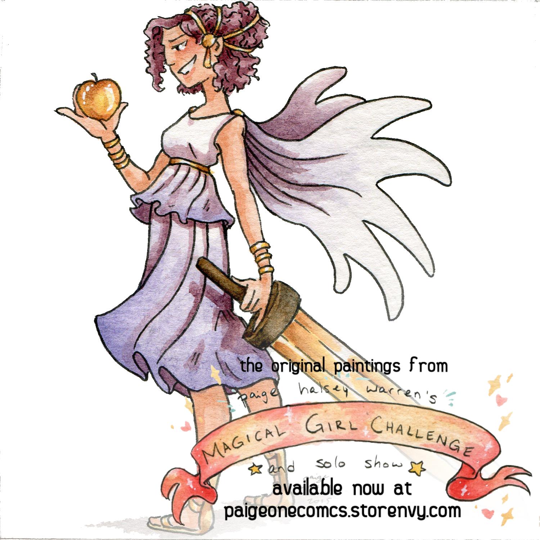 Magical Girl Challenge Original: Apple, Golden Yellow, Sword from Paige One  Comics