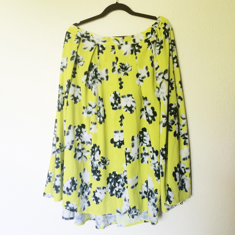 99a2213f805d6 Floral eloquii midi skirt · Elizabeth Street · Online Store Powered ...