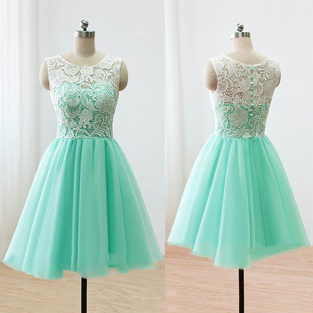 8566322fd22 Sleeveless Green Prom Dress