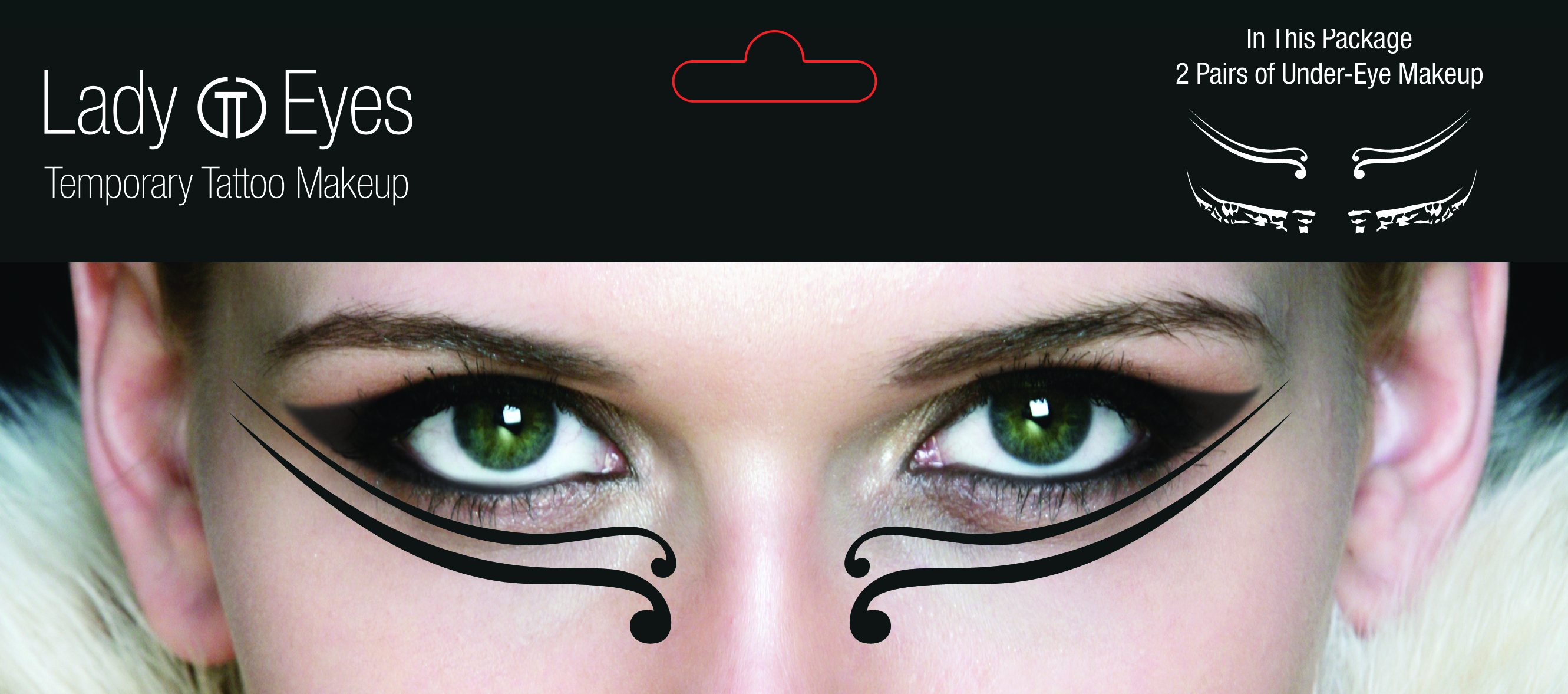Eye temporary tattoo makeup