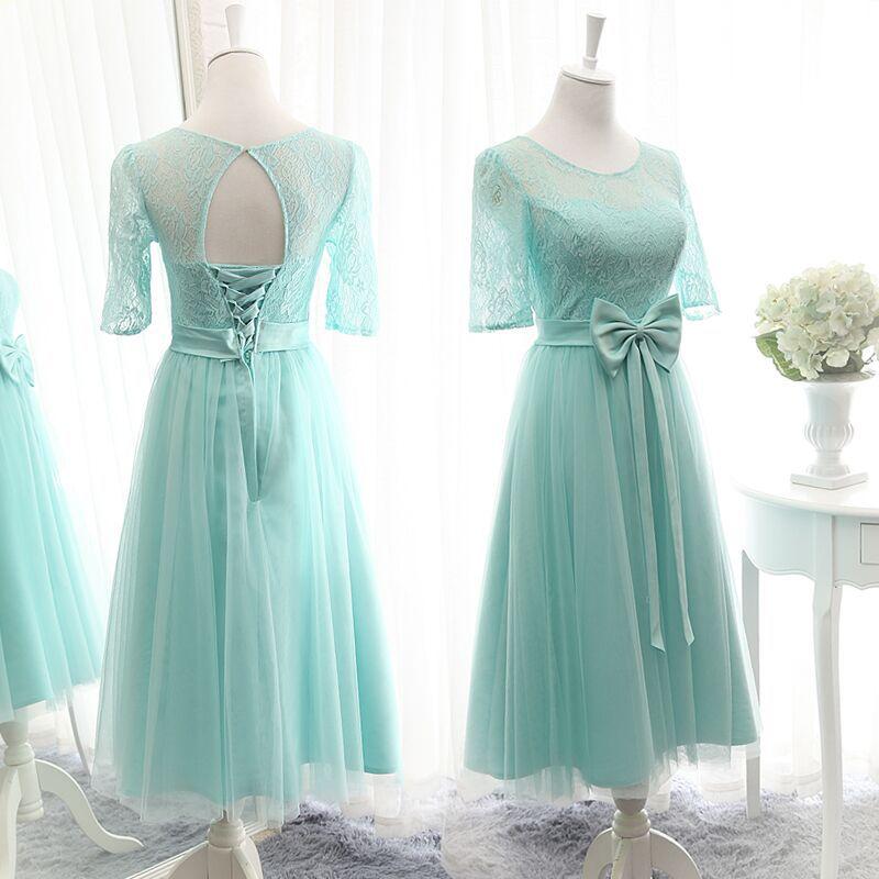 Short Lace Bridesmaid Dress 54c3cd17db3c