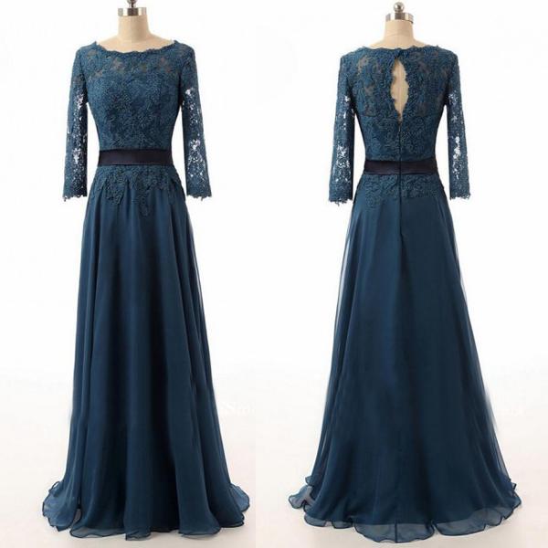 Dark Teal Prom Dresses Long Prom Dresses Lace Bridesmaid Dresses