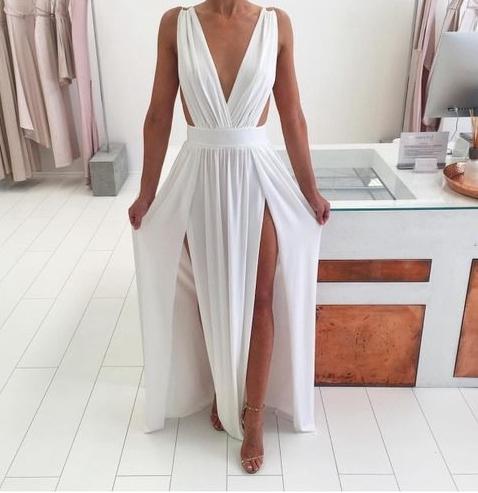 4ef46a5d119a Simple A-line prom dress