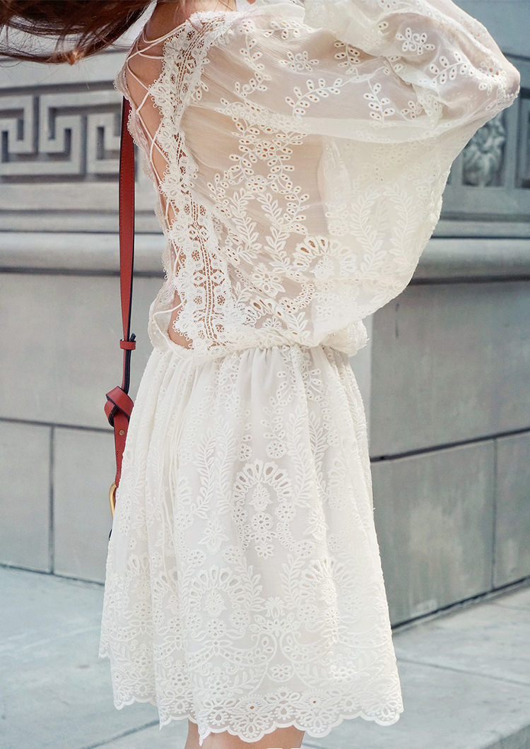 92cad96ee White Back Cross Lace Dress on Storenvy