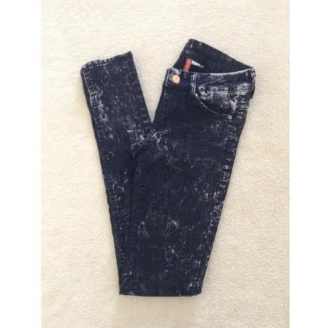 best cheap fine quality offer discounts Black Acid Wash Jeggings sold by Rillest