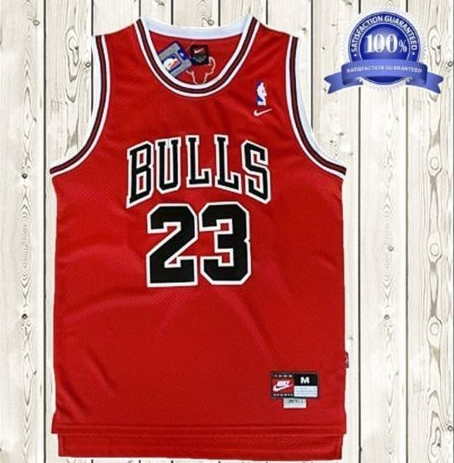286c40b3340 Michael Jordan Chicago Bulls Jersey Men  23 Throwback Swingman Red from  FaceGram