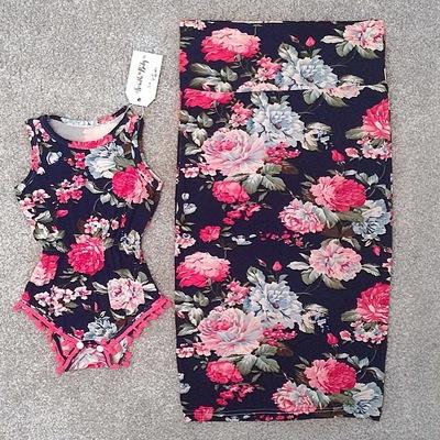 b8cfebf97627a Fancy Floral Pom Pom Romper. $21.00. Fancy floral pencil skirt (mommy)