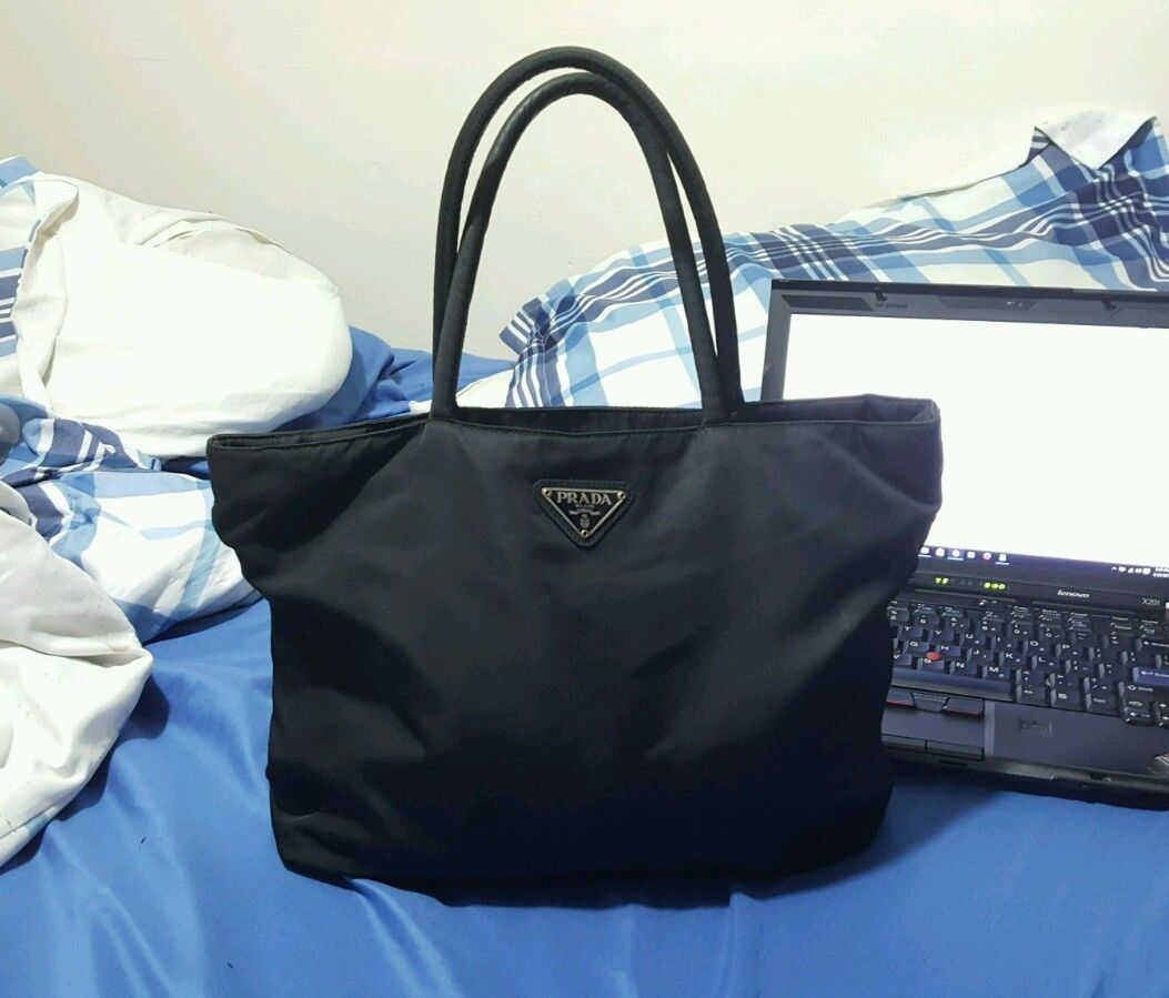 2113ac2d54ba PRADA Authentic Black Tessuto PRADA Authentic Black Tessuto Nylon Tote Bag