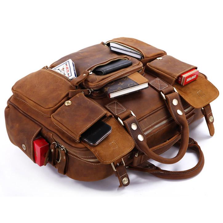 15428921b5c8 Large Handmade Vintage Leather Travel Bag   Leather Messenger Bag ...