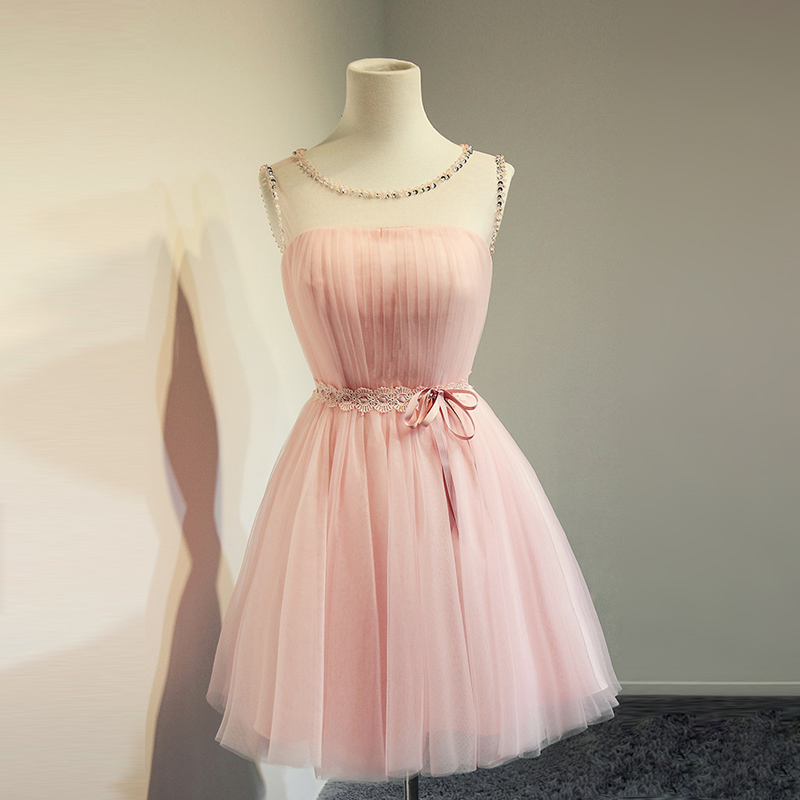c335e7c95d00 Short Tulle Pink Homecoming Dress,Simple Cute Popular Cheap Homecoming Dress ,Homecoming Dress,