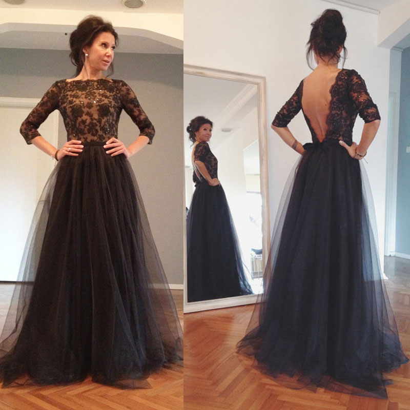 962e4b7d3c1 Backless Charming Tulle Long Prom Dress,Colorized Evening Dress , A Line  Open Back Prom