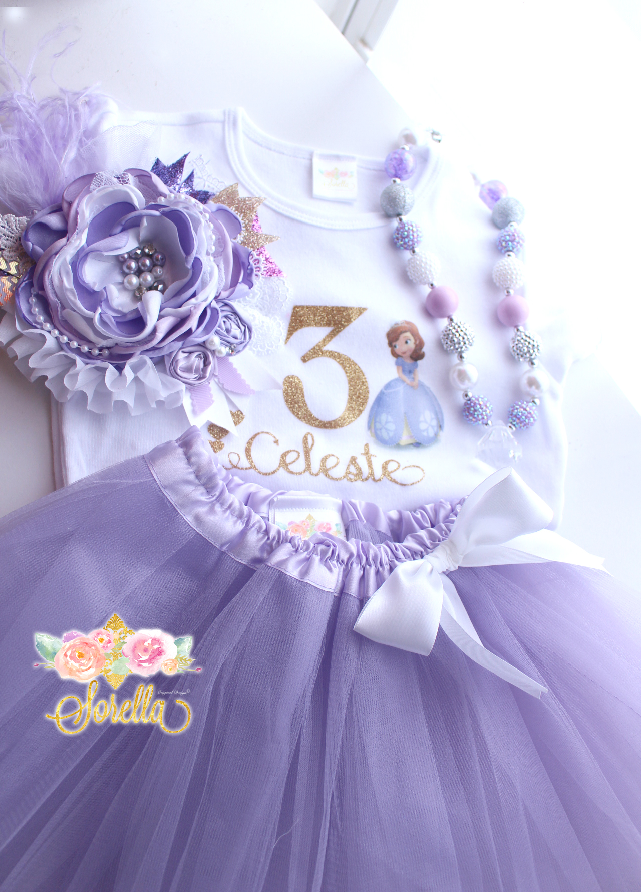 8d8c24baa550 Sofia the First Birthday Outfit Girl Set on Storenvy