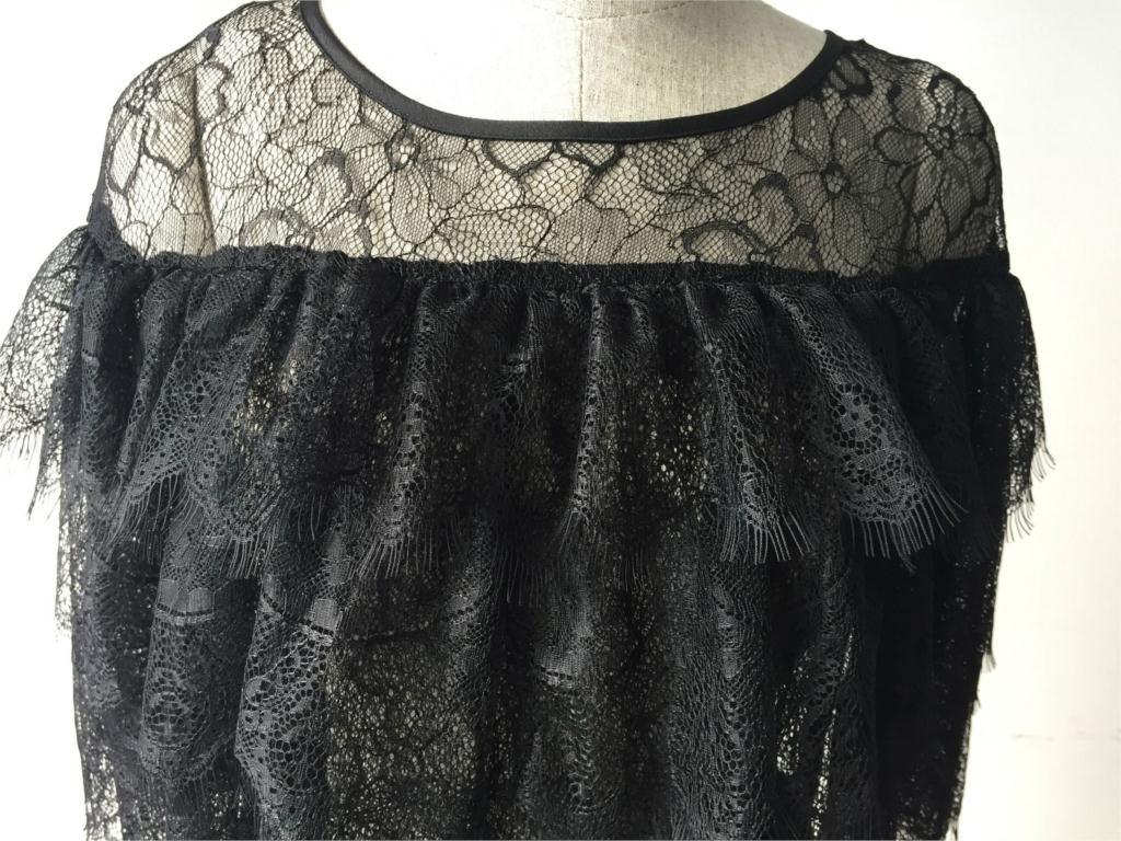 Black Widow Luxury Lace Dress from Milano Fashion