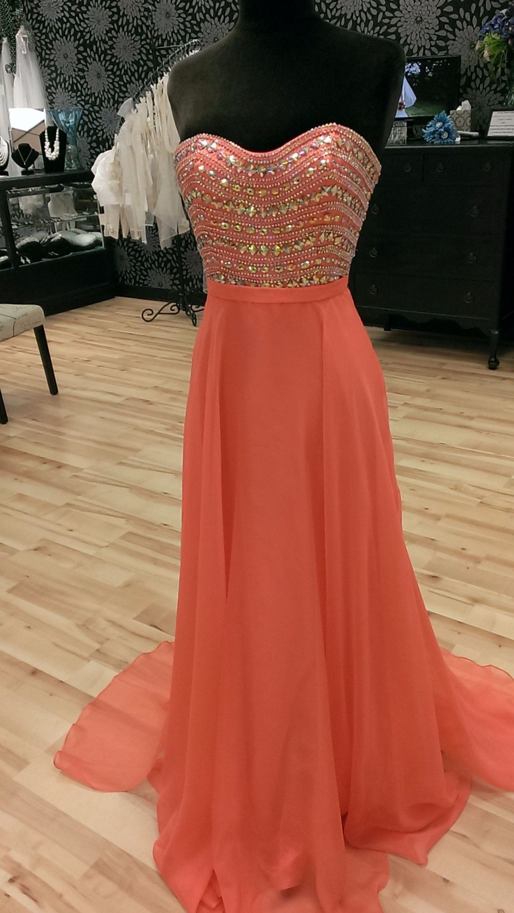 02d9ca8cdae5 Sweetheart Orange Long Prom Dress,Evening Dress ,Charming Evening Gown,Prom  Dresses,