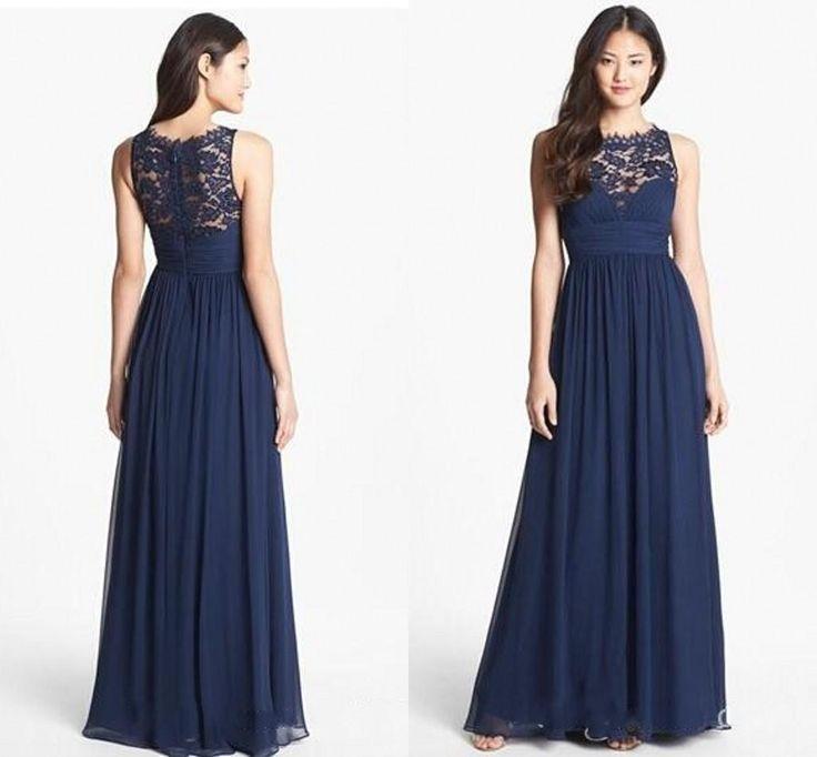 8f2f0ecddd7 Navy lace bridesmaid dresses