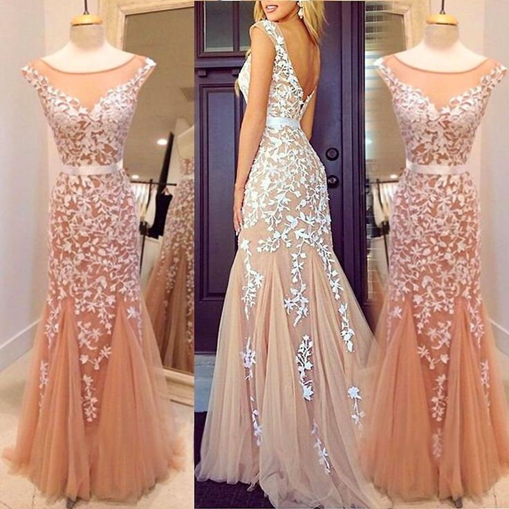 2015 Long Prom Dresses with Straps