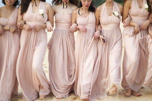 Top Selling Blush Pink Bridesmaid Dresses Simple Chiffon
