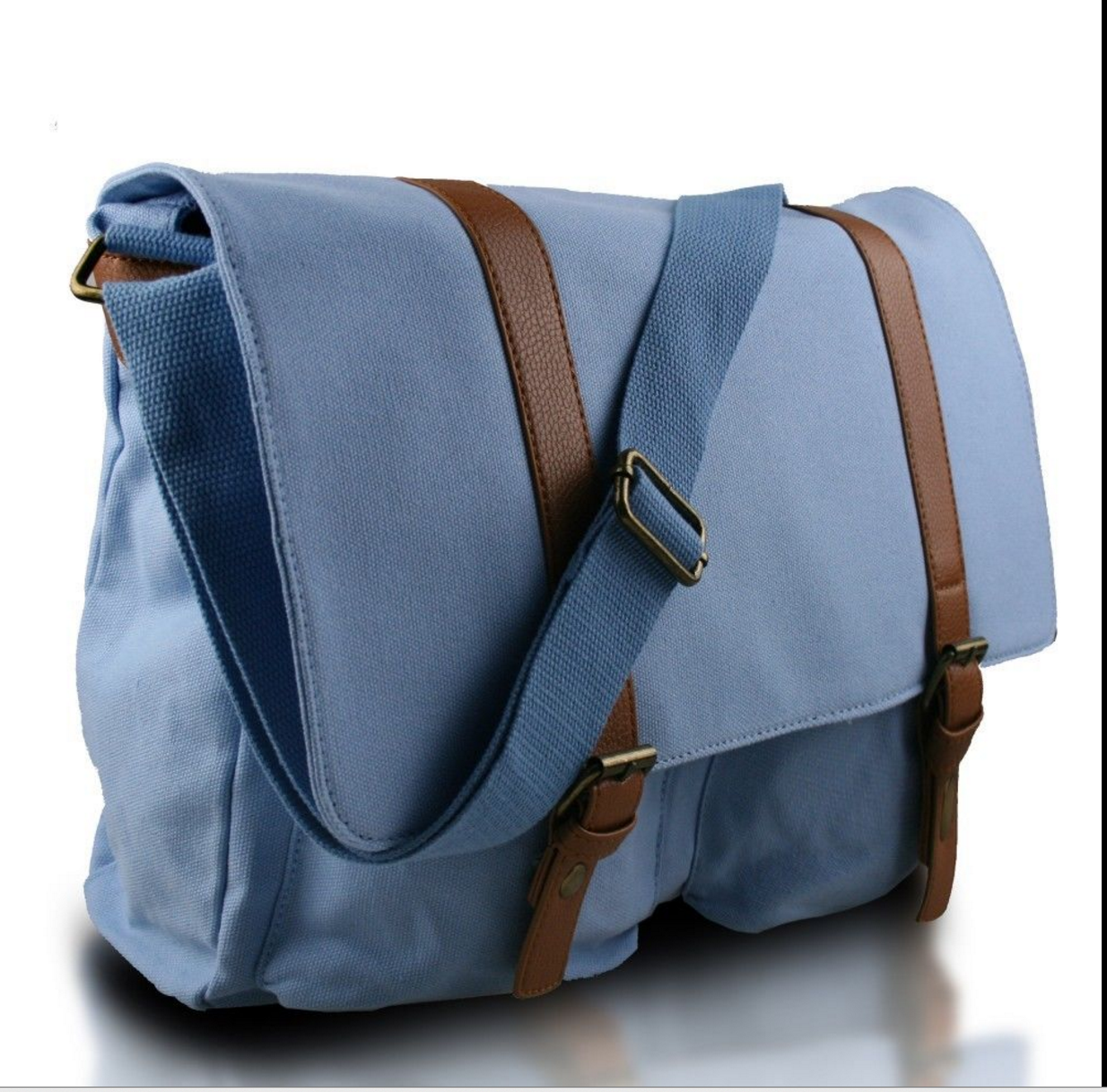 76af56778a22 Vintage Blue Canvas Backpack Unisex School Travel Bag for Men Women ...