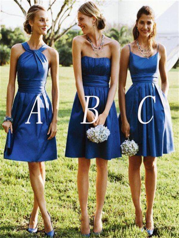 d8d22b862877 Short bridesmaid dress, Different styles Bridesmaid Dress,Bridesmaid Dresses,Royal  Blue Bridesmaid Dress