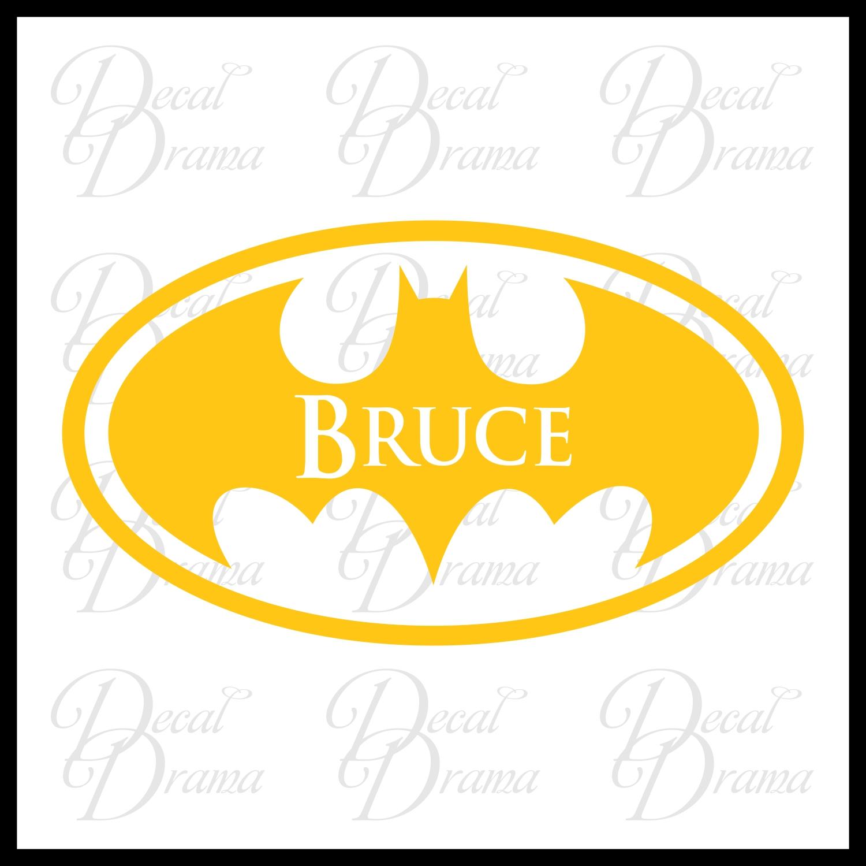 Batman Personalized logo Superhero Name vinyl wall decal on Storenvy
