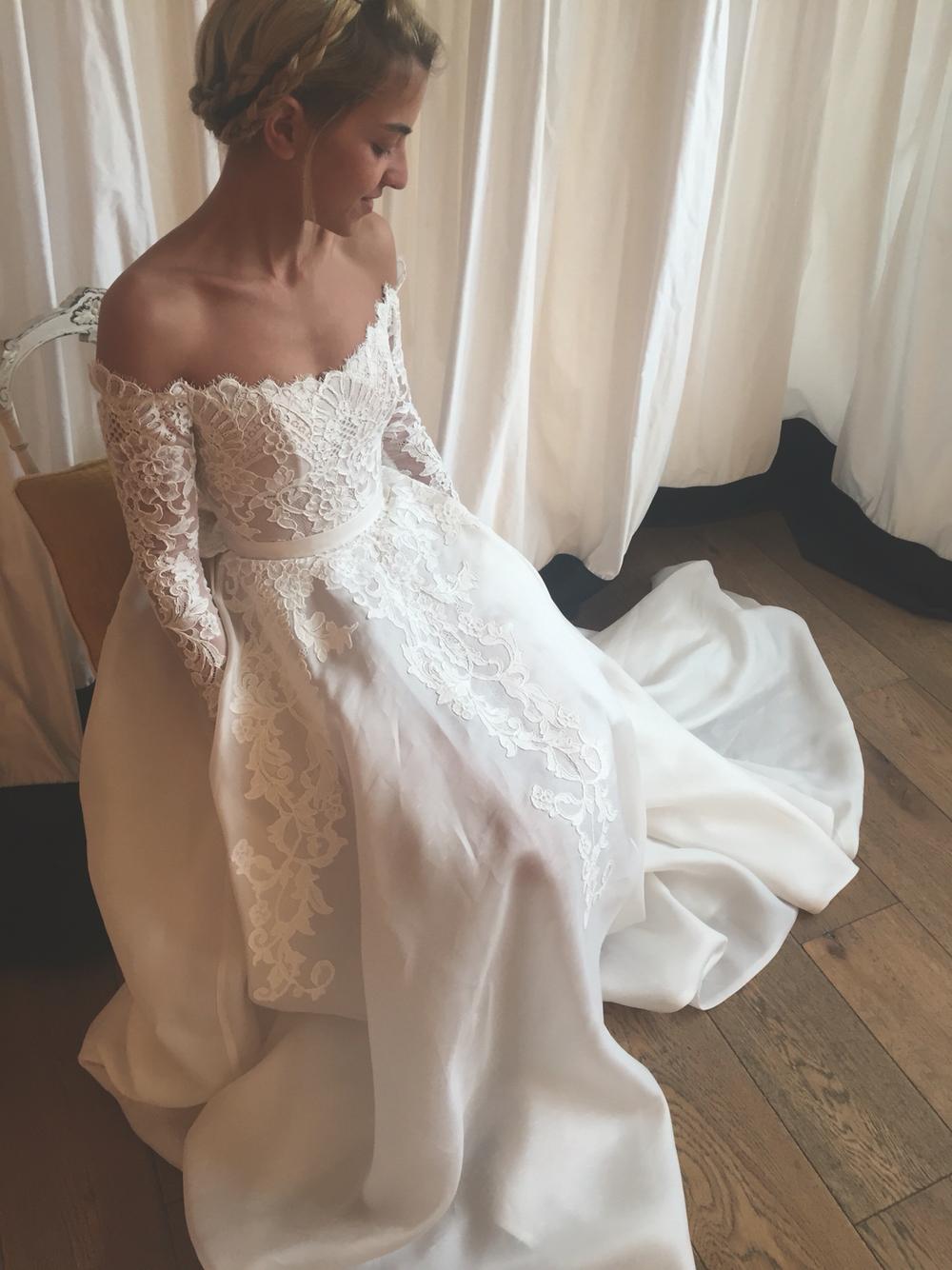 Wd35 Long Sleeve Lace Charming Wedding Dresses Wedding Dress Custom