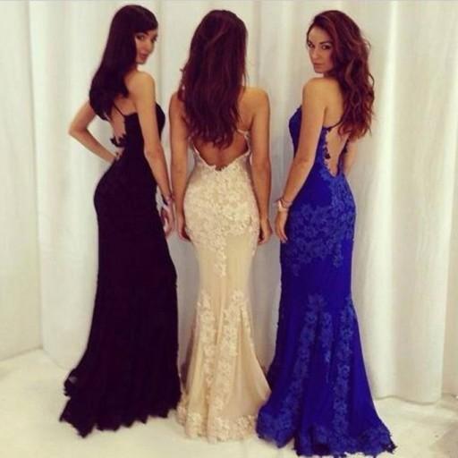 Mermaid Lace Prom Dresses