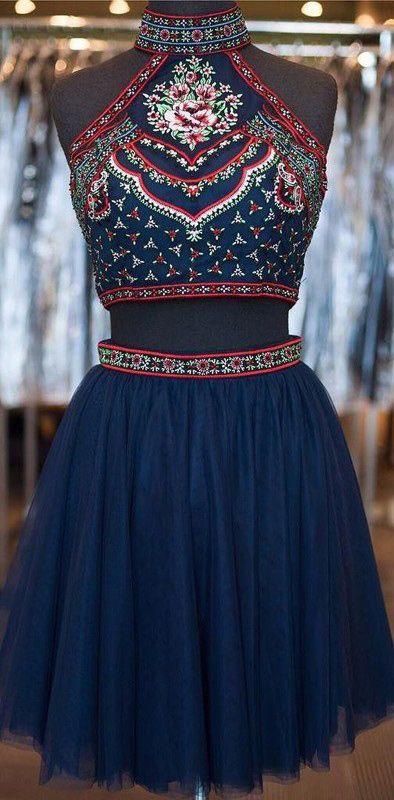 Cute Short Prom Dresses A Line Glitter Open Backs Black Backless ...