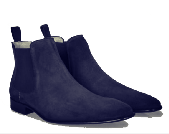 0ee37d9d8 Handmade men navy blue Chelsea boot, Men blue real suede ankle boot ...