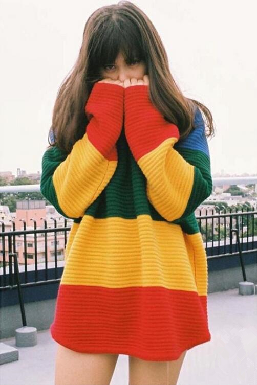df8a8646dd Vintage Rainbow Striped Sweater · Tony Moly Store · Online Store ...