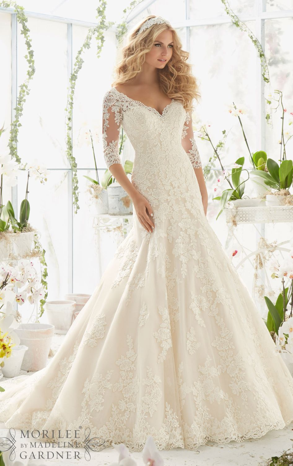 J147 Long Sleeve Wedding Dresses, Plus Size Wedding