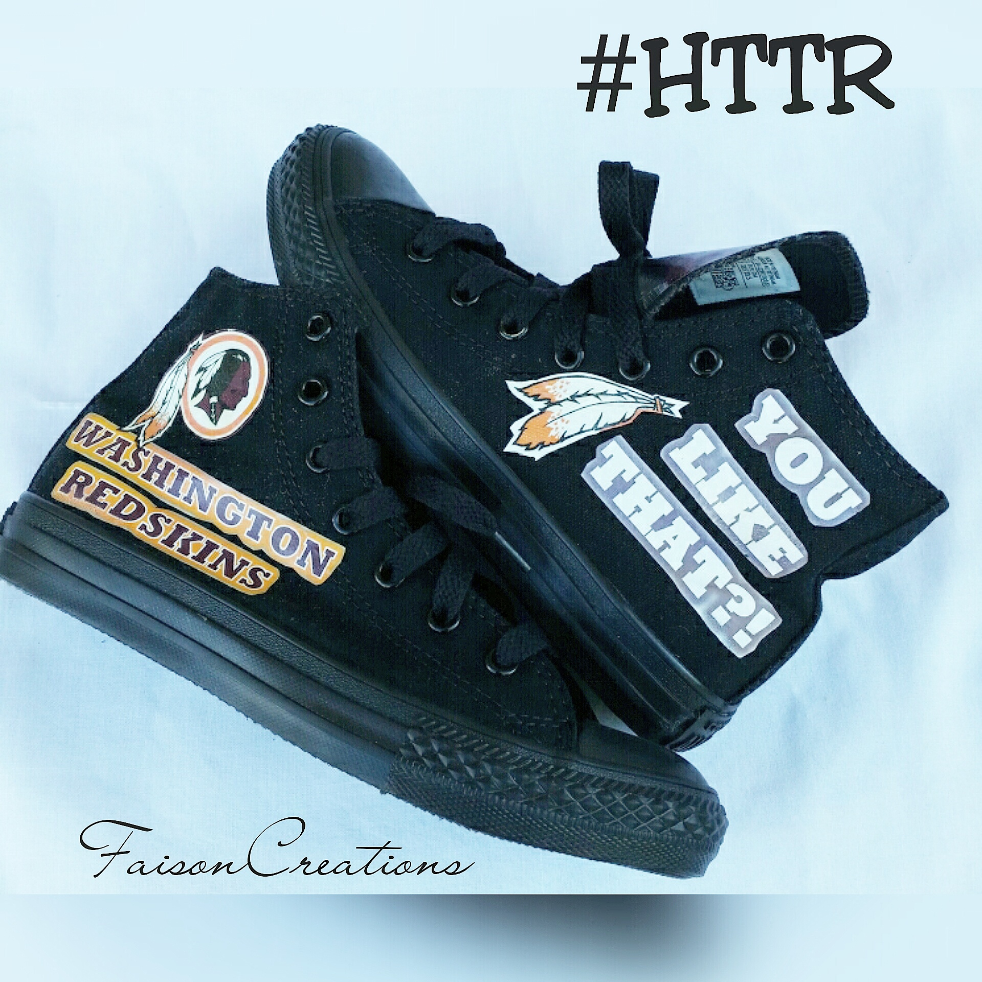 b0e64ac2 Kids Custom Redskins Converse Size 2 from FaisonCreations