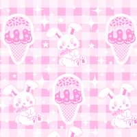 64debf5e4d5c4 ... Sparkle Sweets Cutout Sleeve Top ☆ Made To Order Ice cream Bunny Kawaii  Decora Harajuku