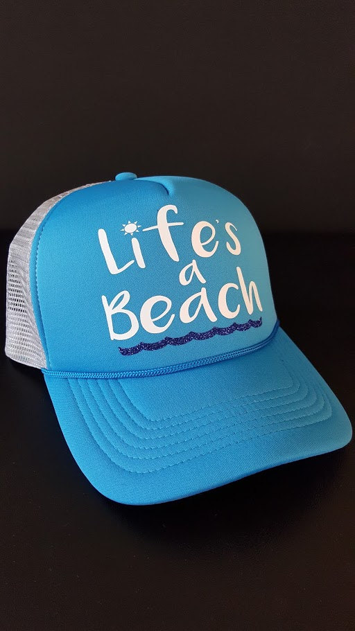 e2c4f84f05f8d9 Lifes a Beach Trucker Hat on Storenvy