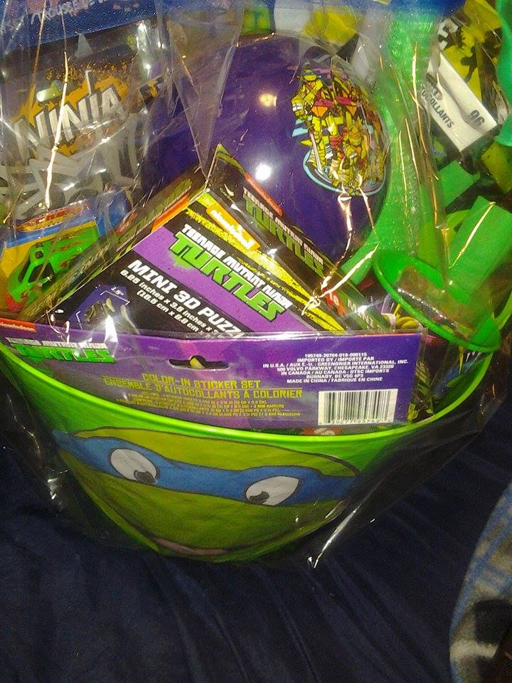 TMNT Birthday Gift Basket For Young Boyfree Shipping In US On