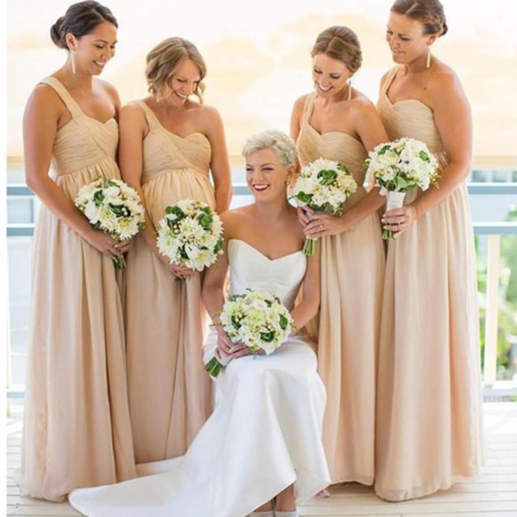 Inexpensive Chiffon One Shoulder Bridesmaid Dress, Empire Waist ...