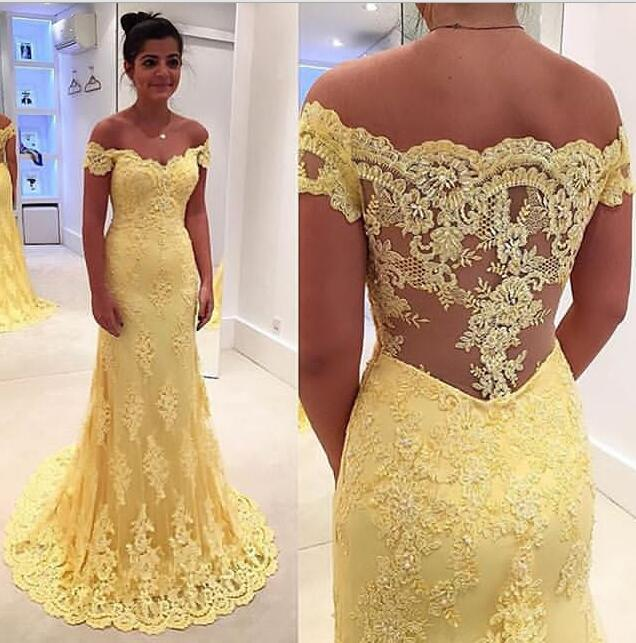 Yellow Prom Dress Prom Dresses Evening Party Gown Formal Wear ...