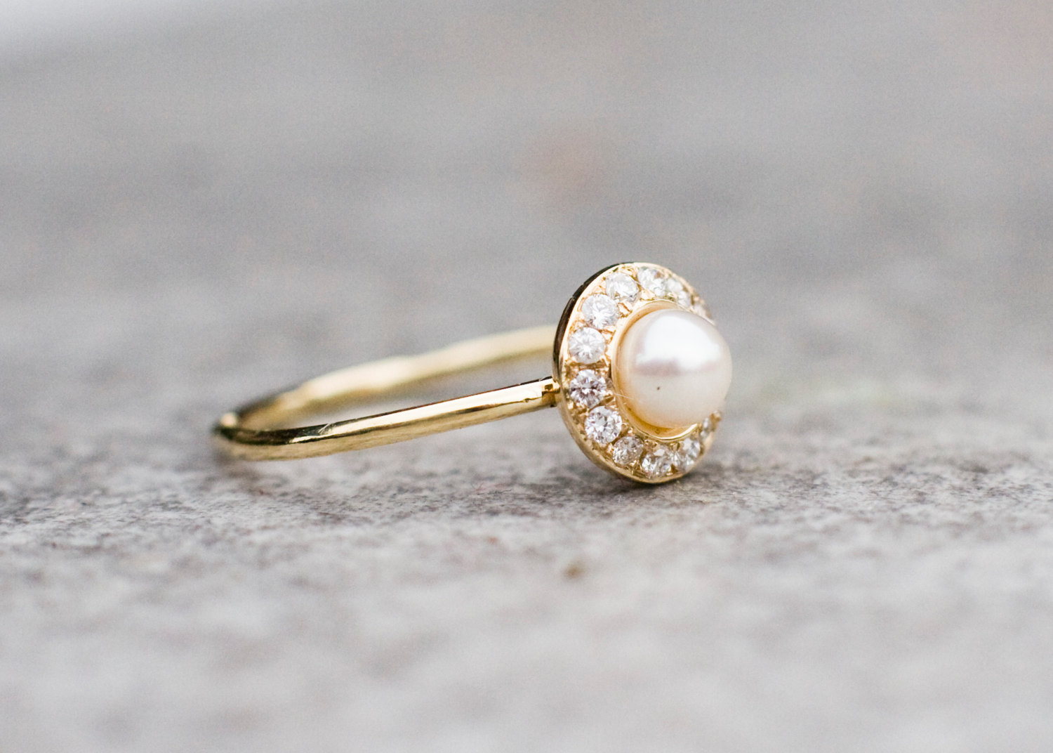 Pearl Wedding Rings.White Pearl Wedding Ring With Diamonds In 14k Gold Pearl Engagement Ring Fine Jewelry From Arpelc Jewelry