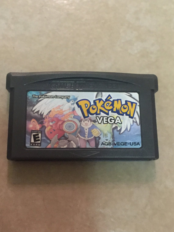 Pokemon Vega Version Fan Made Nintendo Game Boy Advance Game  GameBoy GBA   Free Shipping! sold by Coastline Games