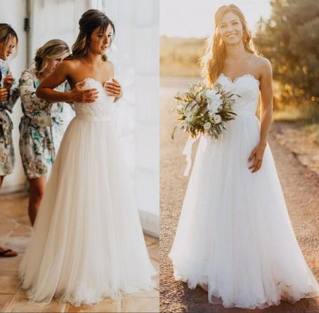 Fairy Wedding Dress.Strapless Sweetheart Lace Tulle Wedding Dress Lace Fairy Wedding Gown Lace Bridal Gown Ball Gown Hc1784 From Didopromcouture