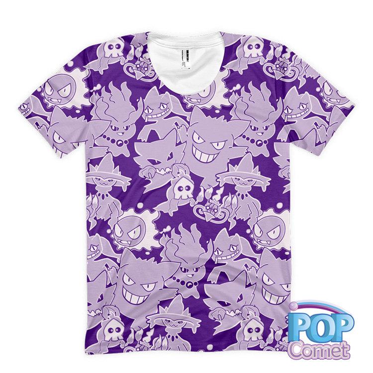 7830703283515 Ghost Pokemon T-Shirt Women s Size Pokemon Inspired Ghost Type Pokemon  Shirt All Over Print