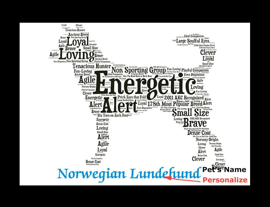 Norwegian Lundehund,Custom Norwegian Lundehund, Personalize Norwegian  Lundehund, Pet Gift, Print, Dog Art, Pet Memorial, Custom Dog sold by  PetArtus