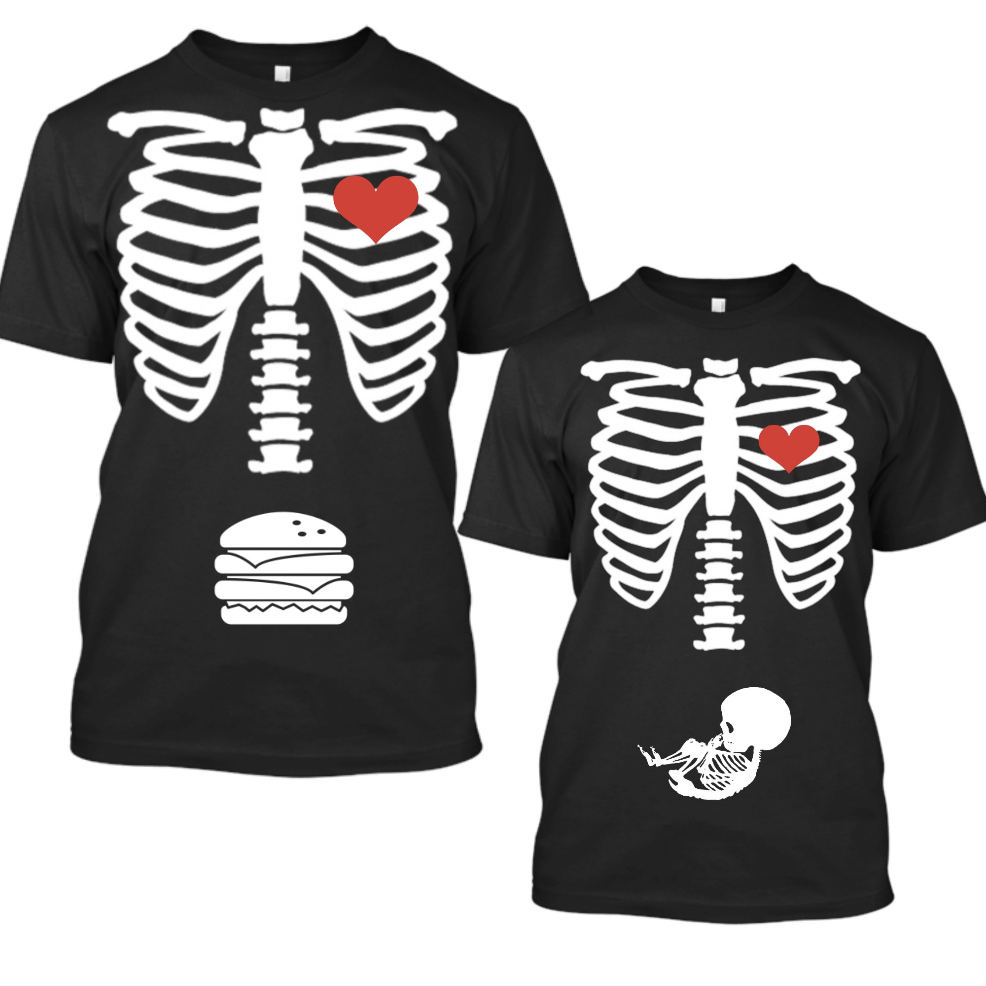 af46e3e98f8d0 Matching Halloween Pregnancy Announcement Shirts, Skeleton Baby ...