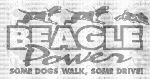 Beagle Power Decal 183 Hard Luck Graphix 183 Online Store