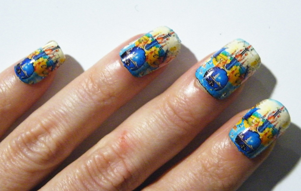 Bosch Garden Of Earthly Delights Blue White Nail Polish Art Nails