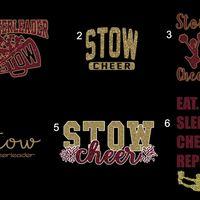 Custom Cheer Stadium Blanket With Glitter